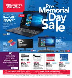 Electronics & Office Supplies deals in the Office Depot weekly ad in Concord NC