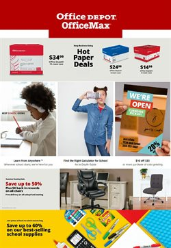Electronics & Office Supplies offers in the Office Depot catalogue in Baldwin Park CA ( 3 days ago )