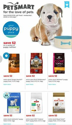 Saw deals in the Pet Smart weekly ad in Oklahoma City OK