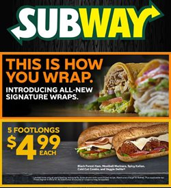 Subway deals in the Houston TX weekly ad