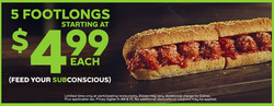 Subway deals in the Sioux Falls SD weekly ad
