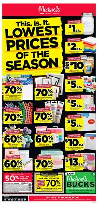Michaels deals in the Chicago IL weekly ad
