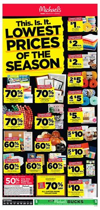 Michaels deals in the New York weekly ad