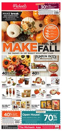 Michaels deals in the Livonia MI weekly ad