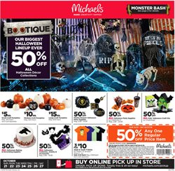 Michaels deals in the Saint Augustine FL weekly ad