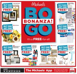 Michaels deals in the Houston TX weekly ad