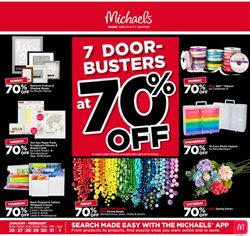 Michaels deals in the Chapel Hill NC weekly ad