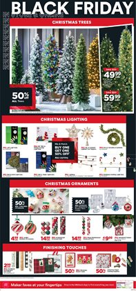 Christmas tree deals in Michaels