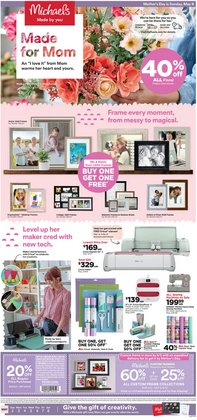 Mother's Day deals in the Michaels catalog ( Expires today)