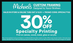 Michaels coupon ( 1 day ago )