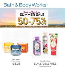 Beauty & Personal Care deals in the Bath & Body Works catalog ( Expires today)