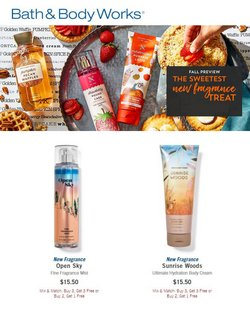 Beauty & Personal Care deals in the Bath & Body Works catalog ( 11 days left)