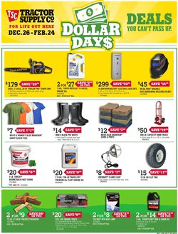 Saw deals in the Tractor Supply Company weekly ad in Redding CA
