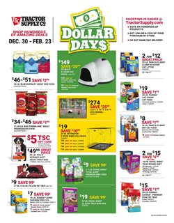 Tractor Supply Company deals in the Jacksonville FL weekly ad