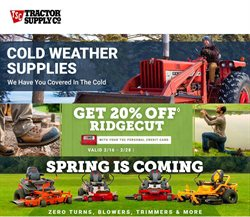 Tractor Supply Company catalogue ( Expires tomorrow )