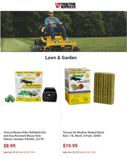 Tools & Hardware deals in the Tractor Supply Company catalog ( Published today)