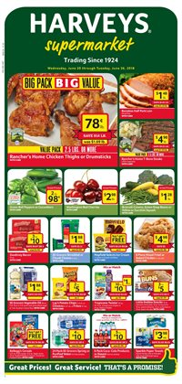 cakes deals in the harveys supermarkets weekly ad in orange park fl