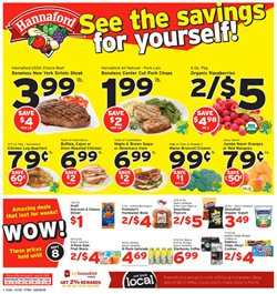 Chicken deals in the Hannaford weekly ad in Schenectady NY