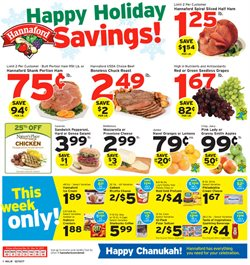 Hannaford deals in the Worcester MA weekly ad