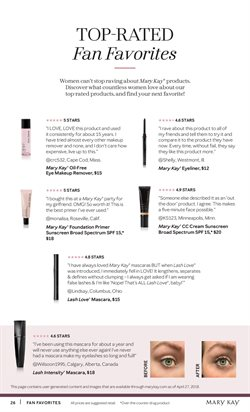 Eyeshadow deals in the Mary Kay weekly ad in Acworth GA