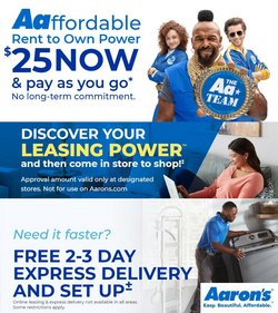 Home & Furniture deals in the Aaron's catalog ( 4 days left)