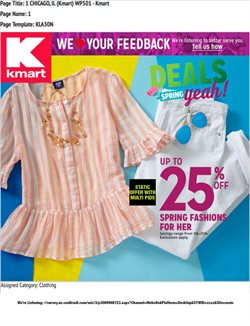 Discount Stores deals in the Kmart weekly ad in Chicago IL
