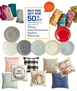 Pillow deals in the Pier1imports weekly ad in New York