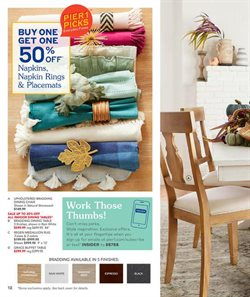 Chairs deals in the Pier1imports weekly ad in Troy NY