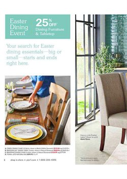 Table deals in the Pier1imports weekly ad in Troy NY