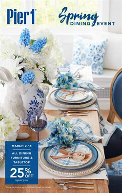 Home & Furniture offers in the Pier1imports catalogue in Vista CA ( 3 days left )