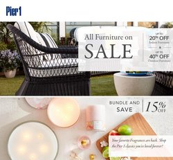Home & Furniture deals in the Pier1imports catalog ( Expires today)