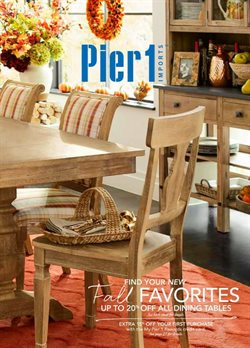 Home & Furniture deals in the Pier1imports weekly ad in Dallas TX