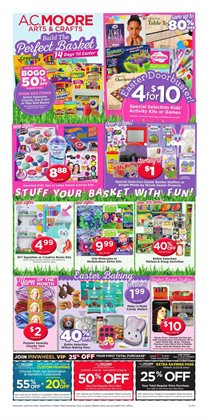 Gifts & Crafts deals in the AC Moore weekly ad in Savannah GA
