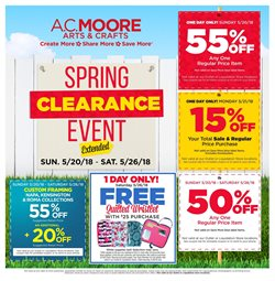 AC Moore deals in the Philadelphia PA weekly ad