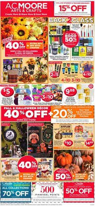 Gifts & Crafts deals in the AC Moore weekly ad in Erie PA