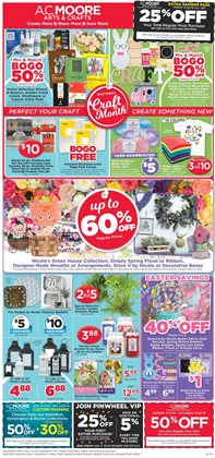 Gifts & Crafts deals in the AC Moore weekly ad in Lancaster PA