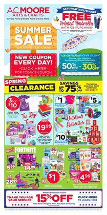 Gifts & Crafts deals in the AC Moore weekly ad in North Charleston SC