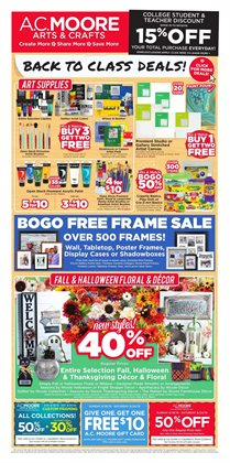 Gifts & Crafts deals in the AC Moore weekly ad in Jackson Heights NY