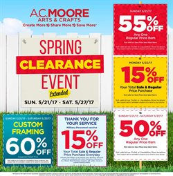 Gifts & Crafts deals in the AC Moore weekly ad in Rockville MD