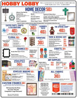 Hobby Lobby deals in the Warren MI weekly ad