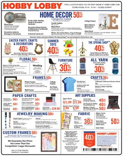 Hobby Lobby deals in the Chicago IL weekly ad