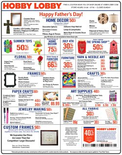 Hobby Lobby deals in the San Antonio TX weekly ad