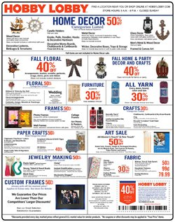 Prints deals in the Hobby Lobby weekly ad in Arvada CO