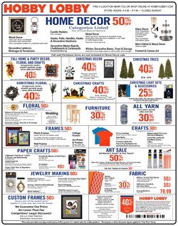 Hobby Lobby deals in the Rapid City SD weekly ad