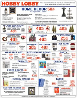 Furniture deals in the Hobby Lobby weekly ad in Olympia WA