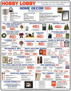 Table deals in the Hobby Lobby weekly ad in Poughkeepsie NY