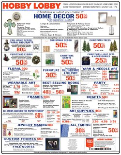 Decoration deals in the Hobby Lobby weekly ad in Kent WA