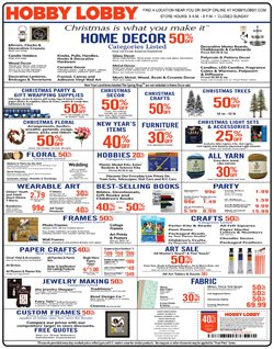 Furniture deals in the Hobby Lobby weekly ad in Puyallup WA