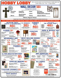 Home & Furniture deals in the Hobby Lobby weekly ad in Saint Augustine FL