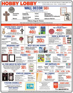 Prints deals in the Hobby Lobby weekly ad in Newark OH